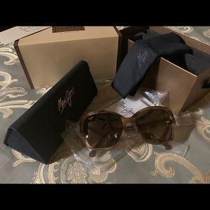 MAUI JIM'S Fashion 24k gold Sunglasses New